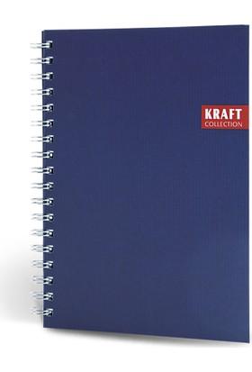 Kraft Spiralli Defter 17x24 120 Yp Çizgili Lacivert