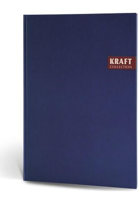 Kraft Ciltli Defter 17x24 120 Yp Kareli Lacivert
