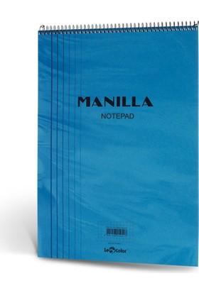 Manila Notepad 15x21 70 Yp Kareli Mavi