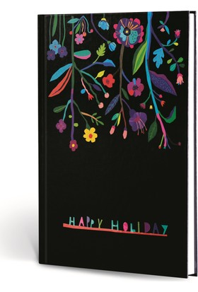 Floral 17x24 Çizgili Ciltli 120 Yp Happy Holıday