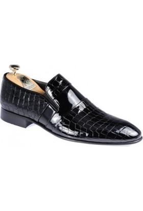Paul Branco Siyah Crocodil Ayakkabı