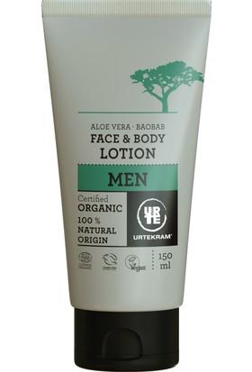 Urtekram Erkek - Organik Yüz Ve Vücut Kremi / Losyonu - Aloe Vera ve Baobab Ağacı -150 Ml.