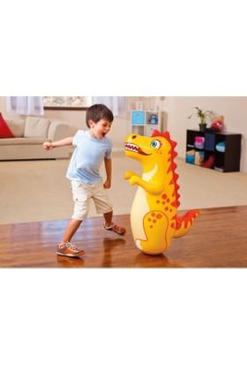 Intex 3D Bop Bag Inflatable Punching Boxing Bag Dinosaur / Su Doldurma Tabanlı Şişme Dinozor Hacıyatmaz 94 Cm