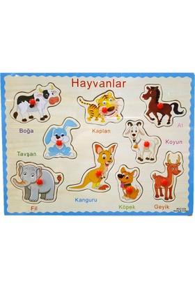 Wooden Toys Ahşap Tutmalı Puzzle Hayvanlar