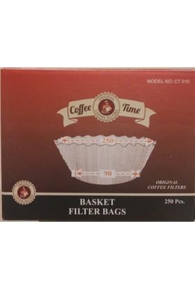 Coffee Time 250 x 90 Basket Filtre Kahve Kağıdı 250 Adet
