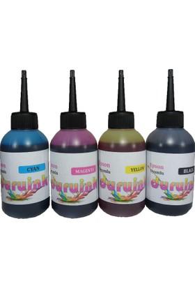 Duruink Hp Yazıcı Uyumlu Vivera 4 Renk Mürekkep Seti 4 x 100 Ml