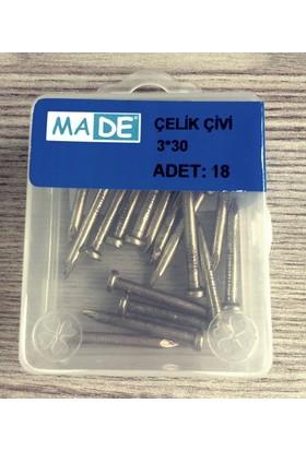 Made Kaliteli Çelik Çivi 3 x 30 ( 18 Adet )