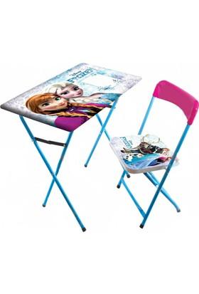 Prenses Çocuk Ders Çalışma Masası Ve Sandalyesi