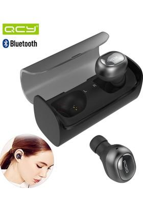 Qcy Q-29 İkili Mini Bluetooth Kulaklık - Şarj Standlı (Siyah Renk)