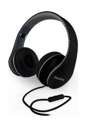 Piranha 2101 Stereo Kablolu Mikrofonlu Kulaklık Siyah