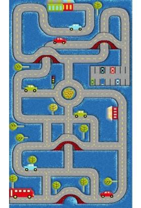 Enti Bücür 510 Arabalı Çocuk Odası Oyun Halısı Antibakteriyel 133 x 190 Cm