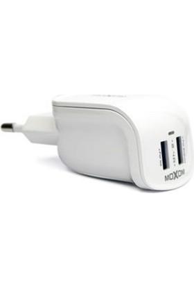 Moxom Hızlı Fast Şarj Cihazı iPhone 5 / 6 / 7 + Micro Usb