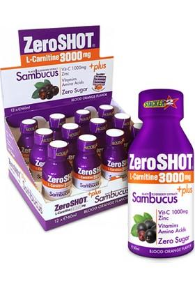Zero Shot L-Carnitine 3000 Mg + Sambucus 60 Ml 12 Adet