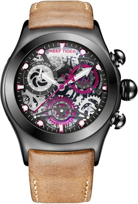Reef Tiger Aurora Big Bang Skeleton Rga792-Bbr Erkek Kol Saati