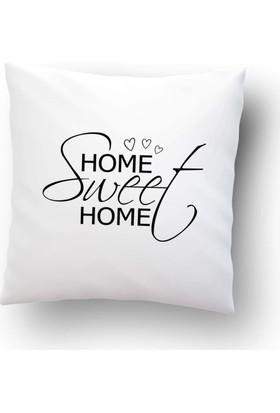 Dekorinyo Home Sweet Home Soft Kırlent Kılıfı