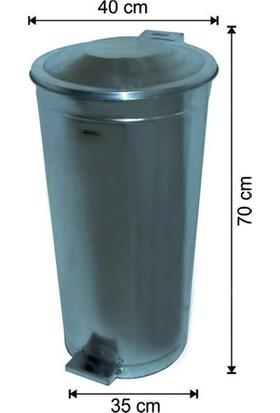Arı Metal Galvaniz Pedallı Çöp Kovası 70Lt
