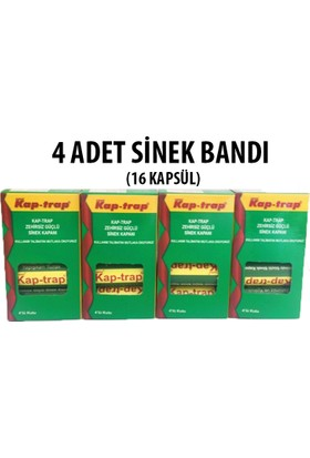 Kapan Kap-Trap Sinek Bandı 4 Adet ( 16 Kapsül )