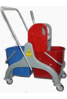 Ceymop Temizlik Arabası Çift Kovalı Plastik Lüks