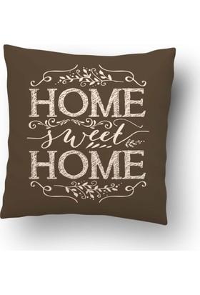 Dekorinyo Vizon Home Sweet Home Kırlent Kılıfı