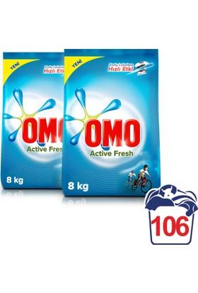 Omo Matik Active Fresh Çamaşır Makinası Toz Deterjan 8 kg + 8 kg