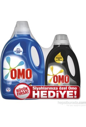 Omo Sıvı Çamaşır Deterjanı Actıve 2700 ML + Omo Black 1350 ML Setkk