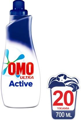Omo Ultra Sıvı Konsantre Çamaşır Deterjanı Actıve 20 Yıkama 700 ML kk