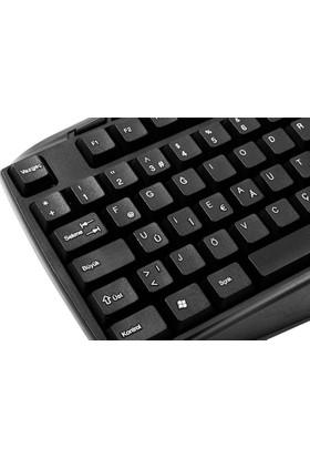 Everest KB-250F Siyah Tamamen Türkçe F Multimedia USB Klavye