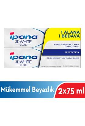 İpana 3 Boyutlu Beyazlık Luxe Diş Macunu Perfection Mükemmel Beyazlık 1 Alana 1 Bedava Paketi (75 ml + 75 ml)