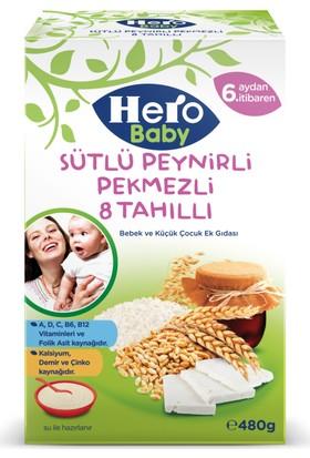 Hero Baby Sütlü Peynirli Pekmezli 8 Tahıllı Kaşık Maması 480 gr