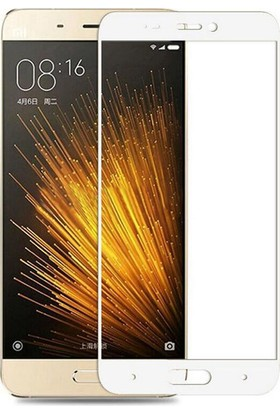 Case 4U Xiaomi Mi 5 Mi5/Mi5 Prime/Mi5 Pro Full Kapatan Cam Ekran Koruyucu Beyaz
