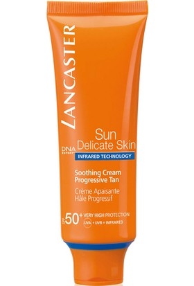Lancaster Sun Delicate Skin Soothing Cream Progressive Tan Spf 50+ 50 Ml