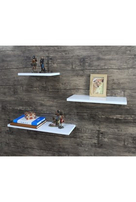 Hepsiburada Home Zoom 3'lü Duvar Rafı Beyaz