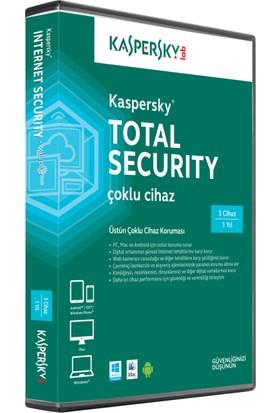 Kaspersky Total Security MD 3C Çoklu Cihaz Koruması