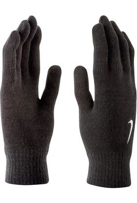 Nike Swoosh Knit Gloves L/Xl Black/White Bereler