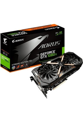 Gigabyte Aorus GTX 1080 TI XTREME EDITION 11GB 352Bit GDDR5X PCI-E 3.0 Ekran Kartı GV-N108TAORUS X-11GD