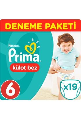 Prima Pants Külot Bebek Bezi 6 Beden Ekstra Large Deneme Paketi 19 Adet