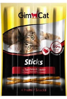 Gimcat Sticks Hindili Mayalı Ödül Çubukları 4'Lü 20 Gr