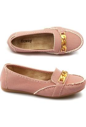 Ccway 016 Zincirli Rok Balpetek Günlük Bayan Babet Ayakkabı