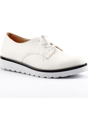 Armoni 40 Cilt Bağcıklı Günlük Bayan Oxford Babet Ayakkabı