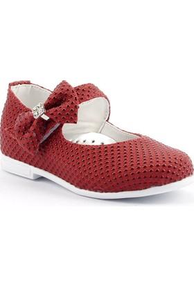 Sema 19 Günlük Abiye Cırtlı Kemerli Tokalı Kız Çocuk Babet Ayakkabı