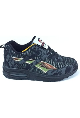 Plarium Party Siyah Gri Air Taban Spor Ayakkabı