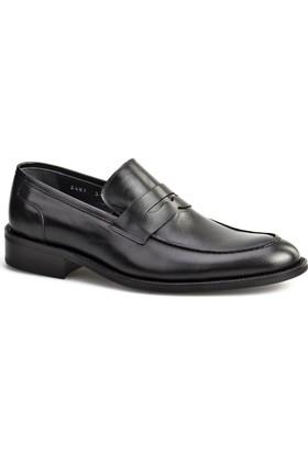 Cabani Kemerli Klasik Erkek Ayakkabı Siyah Soft Deri