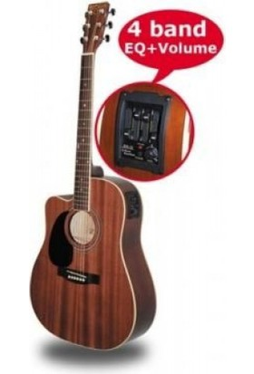 Gitar Akustik SOLAK XACLH30EQ4 Sahne Gitarı Donizetti