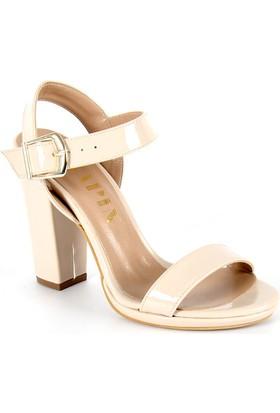 Sapin 25620 Kadın Topuklu Sandalet Bej