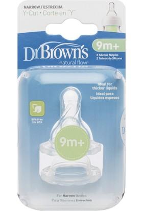 Dr. Brown's Dar Ağız Y Kesim Biberon Emziği 2'li