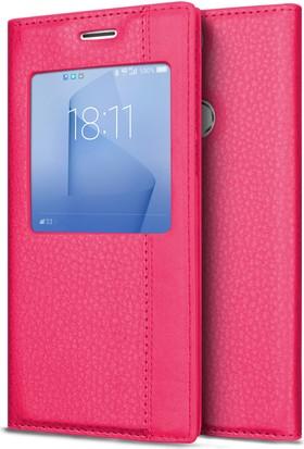 Microsonic Huawei Honor 8 Kılıf Gizli Mıknatıslı View Delux