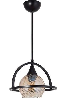 Lumexx Macellan Teklı avize Siyah Bal Camlı