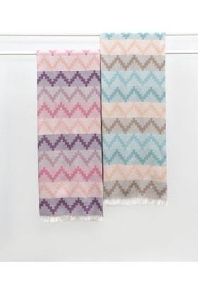 Dost Tekstil %100 Pamuk Püskülü Bağlamalı Peştemal 95X170 Cm