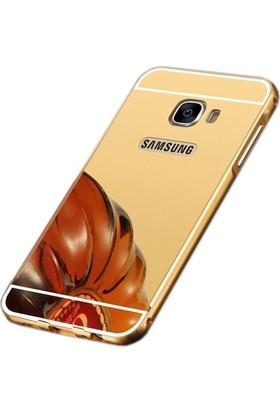 Sonmodashop Samsung Galaxy A7 2016 Metal Aynalı Kılıf