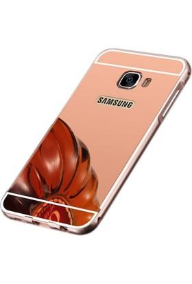 Sonmodashop Samsung Galaxy A7 2017 A720 Metal Aynalı Kılıf